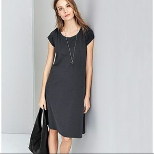 Eileen Fisher black organic cotton dress size XS